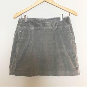 Banana Republic Gray Corduroy Mini Skirt Sz. 8